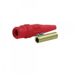 #2-#1 Crimp/Solder Male Plugs, Red