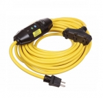15 Amp Portable GFCI Cord, Watertight, Tri-Tap, 50 FT