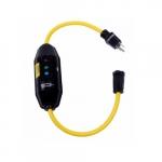 2-ft 15 Amp Portable GFCI Single-Tap Cord, Manual Reset, Watertight