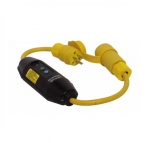 15 Amp Portable GFCI Cord, Watertight, Manual Reset, 2 FT