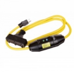 15 Amp Portable GFCI Cord, Watertight, Tri-Tap, 6 FT