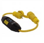 15 Amp Portable GFCI Cord, Watertight, Manual Reset, 6 FT