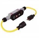 20 Amp Portable GFCI Cord, Watertight, Manual Reset, 2FT