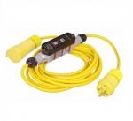 20 Amp Portable GFCI Cord, Watertight, Manual, 25FT