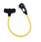 15A Portable GFCI, Watertight, Automatic Reset, 120V, 3-Ft