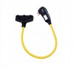 15 Amp Portable GFCI Cord, Watertight, Straight Blade Plug, 2FT