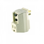 15 Amp GFCI Plug-In Single Outlet Adapter, 120V