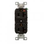 20 Amp Premium Duplex Receptacle, Isolated Ground, Industrial Grade, Black
