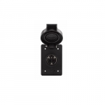 20 Amp Locking Receptacle, Watertight, NEMA L20-20, Black