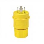 30 Amp Locking Plug, Watertight, NEMA L21-30, 120/208V, Yellow