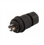 30 Amp Locking Plug, Watertight, NEMA L21-30, 120/208V, Black