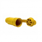 20 Amp Locking Connector, Watertight, NEMA L23-20, 347/600V, Yellow