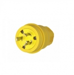 30 Amp Locking Plug, NEMA L6-30, 250V, Yellow