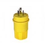 20 Amp Locking Plug, NEMA L7-20, 277V, Yellow