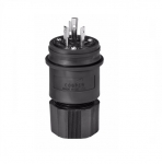 20 Amp Locking Plug, NEMA L7-20, 277V, Black