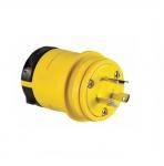 20 Amp Locking Plug, NEMA L7-20, 277V, Yellow/Black