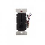2200W Occupancy Sensor & Dimmer w/LED, Black