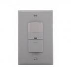 600W Occupancy Sensor Switch, Incandescent, Single-Pole, Grey