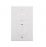 600W Occupancy Sensor Switch, Incandescent, Single-Pole, White