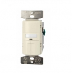 1000W Dual Switch Motion Sensor w/ Nightlight, Single-Pole, Almond