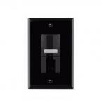 1000W Dual Switch Motion Sensor w/ Nightlight, Single-Pole, Black