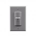 1000W Dual Switch Motion Sensor w/ Nightlight, Single-Pole, Grey