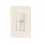 1000W Dual Switch Motion Sensor w/ Nightlight, Single-Pole, Light Almond