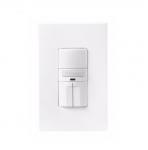 1000W Dual Switch Motion Sensor w/ Nightlight, Single-Pole, White