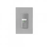 600W Occupancy Sensor Switch w/ Nightlight, Single Pole, Three-Way, 1000 sq ft, Gray