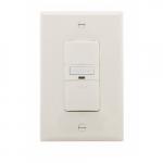 600W Occupancy Sensor Switch w/ Nightlight, Three-Way, 1000 sq ft, Light Almond