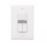 800/2200W Dual Switch Sensor, Single-Pole, Almond