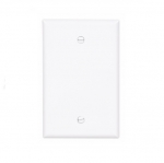 1-Gang Blank Wall Plate, Mid-Size, White
