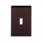 1-Gang Toggle Wall Plate, Mid-Size, Brown