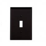 1-Gang Toggle Wall Plate, Mid-Size, Black