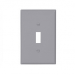 1-Gang Toggle Wall Plate, Mid-Size, Grey