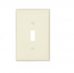 1-Gang Toggle Wall Plate, Mid-Size, Light Almond