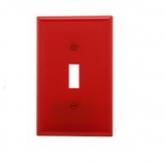 1-Gang Toggle Wall Plate, Mid-Size, Red