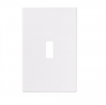 1-Gang Toggle Wall Plate, Mid-Size, Screwless, White