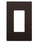 1-Gang Decora Wall Plate, Mid-Size, Screwless, Brown