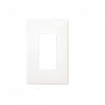 1-Gang Decorator Wall Plate, Screwless, White