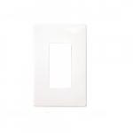 1-Gang Decorator Wall Plate, Screwless, White