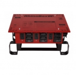 50 Amp Temporary Power Center, NEMA 3R, Manual Reset, Red