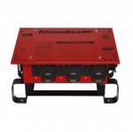 50 Amp Temporary Power Center,NEMA 3R, Weatherproof, Red