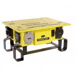 50 Amp Power Center,NEMA 3R, Weatherproof, Manual,Yellow
