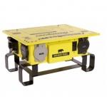 50 Amp Power Center,NEMA 3R, Weatherproof, Manual,Yellow