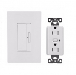15 Amp Anyplace Switch w/ Z-Wave Receptacle, Battery Operated, White