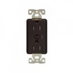 15 Amp Z-Wave Plus Duplex Receptacle, Tamper Resistant, Brown
