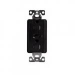 15 Amp Z-Wave Plus Duplex Receptacle, Tamper Resistant, Black