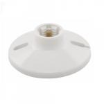660W Ceiling Lamp Holder, Medium Base, Thermoset, Keyless Switch, White