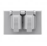 1-Gang Duplex Receptacle Cover, Non-Metallic, Grey